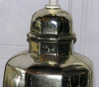 Pair of 1930's Mercury Glass Ginger Jar Shaped Lamps at