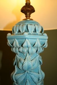 Spanish Ceramic Lamp at 1stdibs