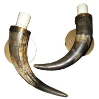 Horn Sconces at 1stdibs