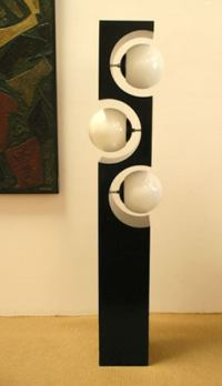Black and White Mod Floor Lamp at 1stdibs