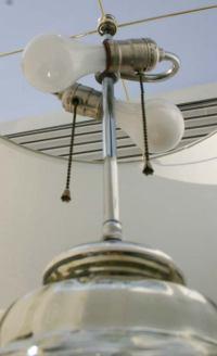 Large Ginger Jar Mercury Glass Lamp at 1stdibs