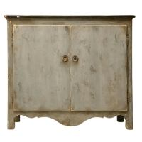 Country French Heavily Distressed Painted Buffet at 1stdibs