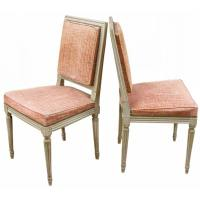 Six Square Back Louis XVI Style Dining Chairs at 1stdibs