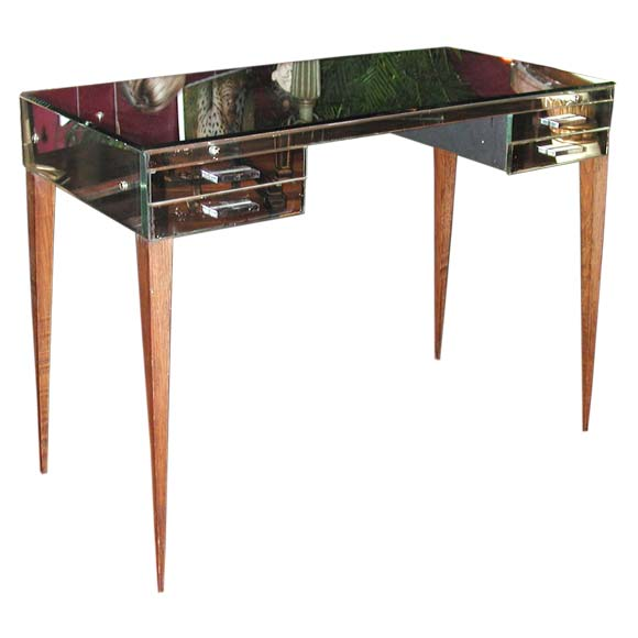 small mirrored desk