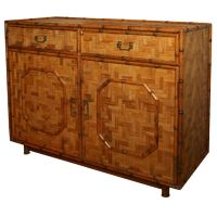 Bamboo chest with brass Asian inspired Hardware at 1stdibs