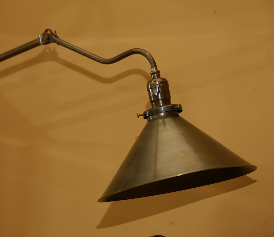 Wall Mounting Adjustable Brass Lamp at 1stdibs