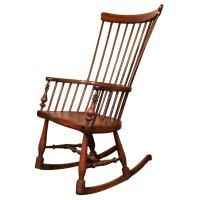 Antique English Windsor rocker/nursing chair. at 1stdibs