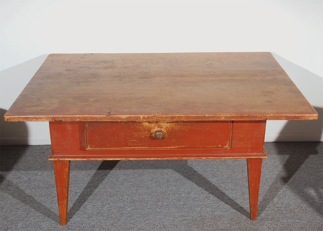 Original Coffee Table Folky 18th C Original Red Painted Table Coffee Table With