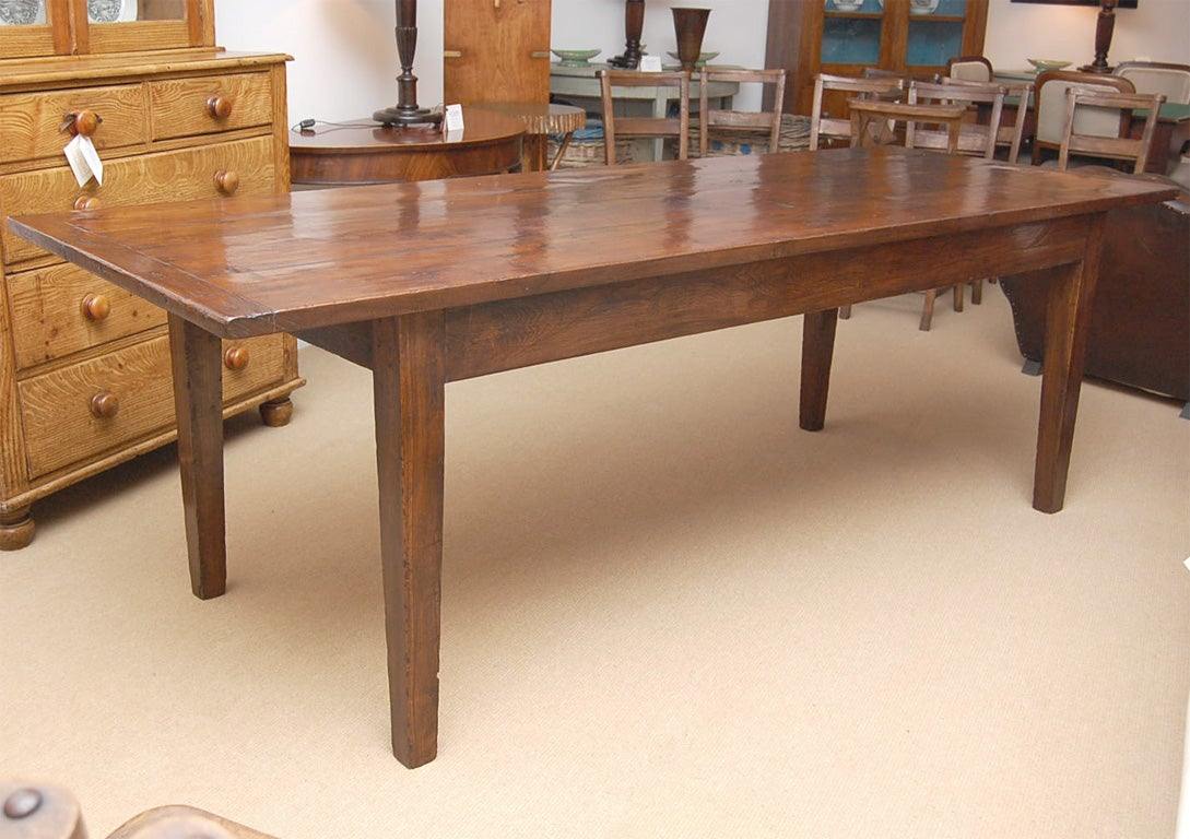 Long Dining Table For Sale Large 9 Foot Long English Chestnut Farm Dining Table At