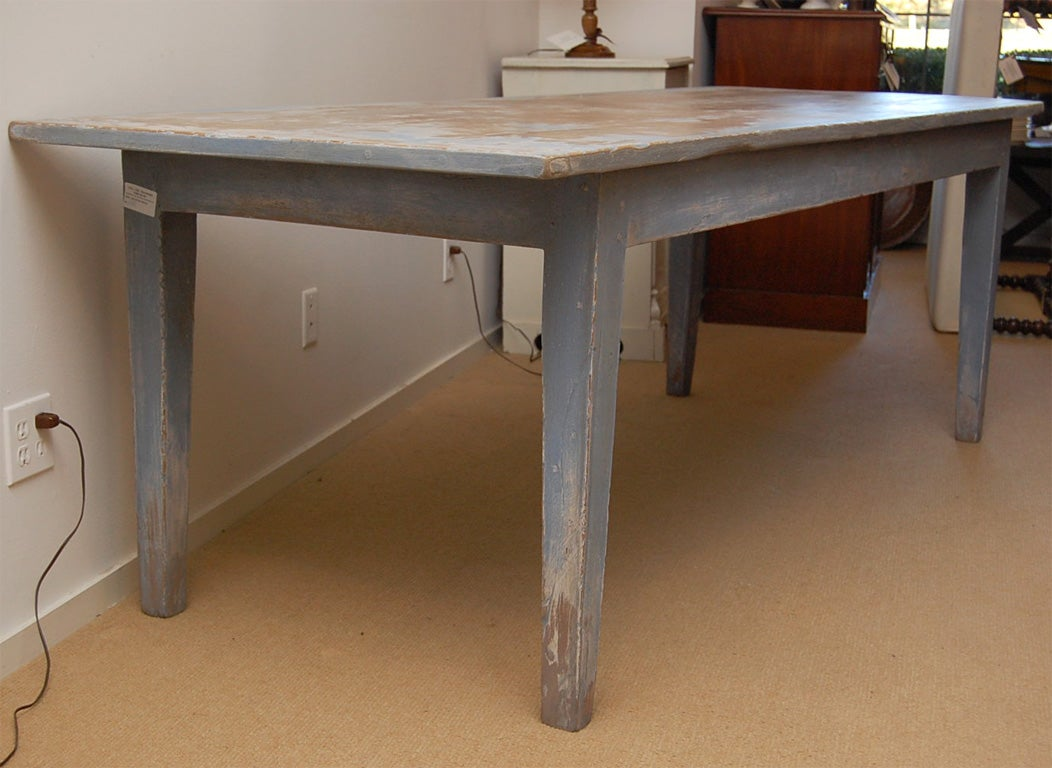 Long Dining Table For Sale Large And Long Sycamore Painted Farm Dining Table For Sale