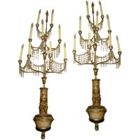 Pair of unusual sconces. at 1stdibs