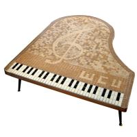 Piano-Shaped Tiled Coffee Table at 1stdibs
