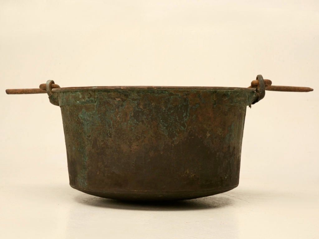 Handmade Fireplace Tools C 1840 Large Handmade French Copper Cauldron For Sale At