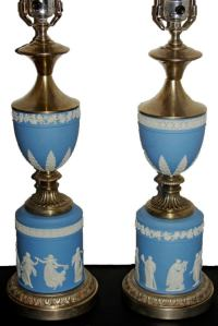 Pair of Wedgwood Table Lamps For Sale at 1stdibs