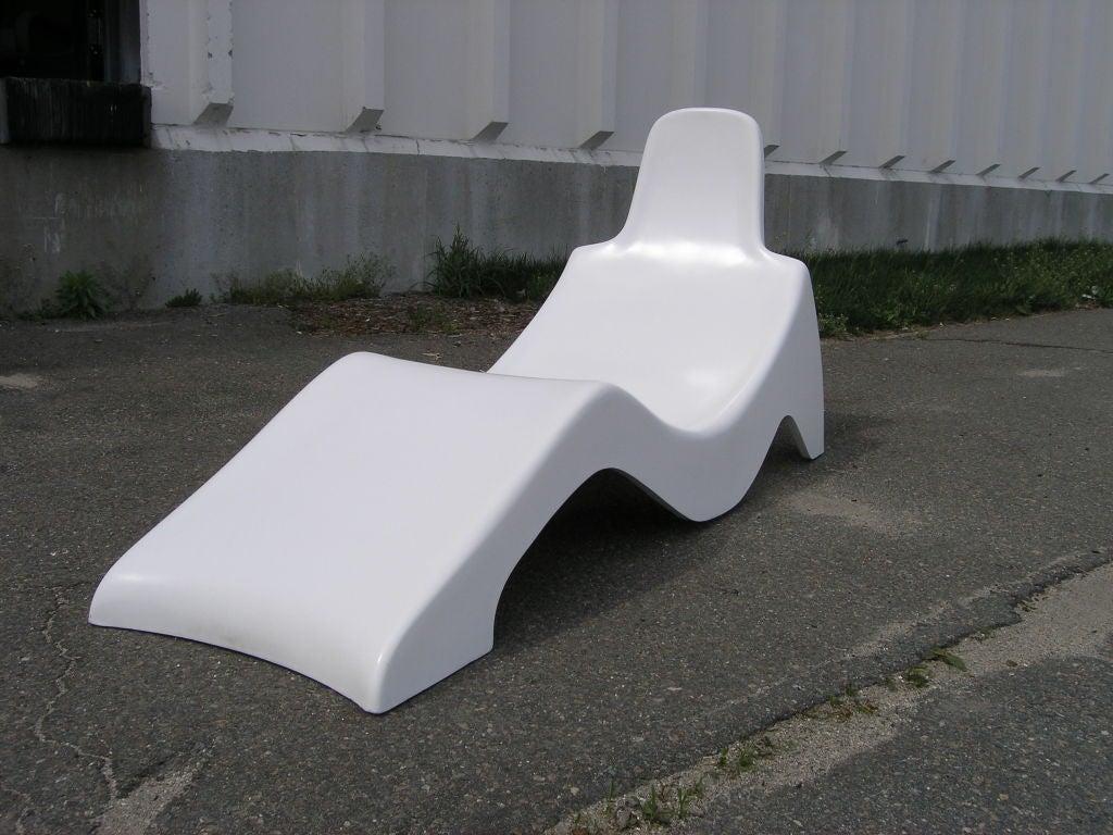 Molded Fiberglass Pool Lounge Chair At 1stdibs
