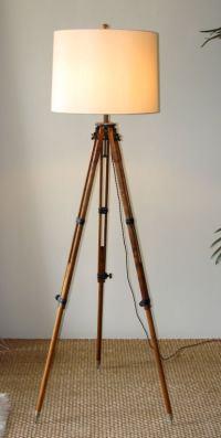 Antique Tripod Floor Lamp at 1stdibs
