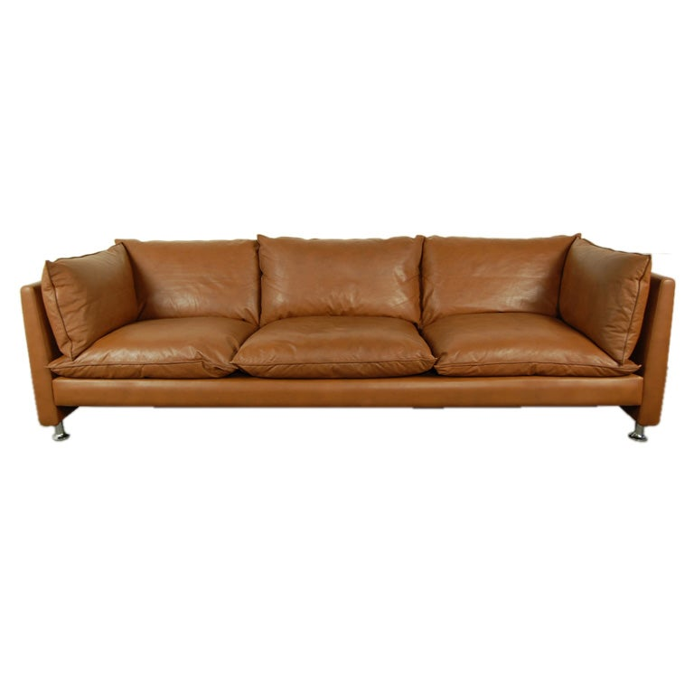 Vintage Ledercouch Vintage Swedish Mid-century Modern Leather Couch Sofa At