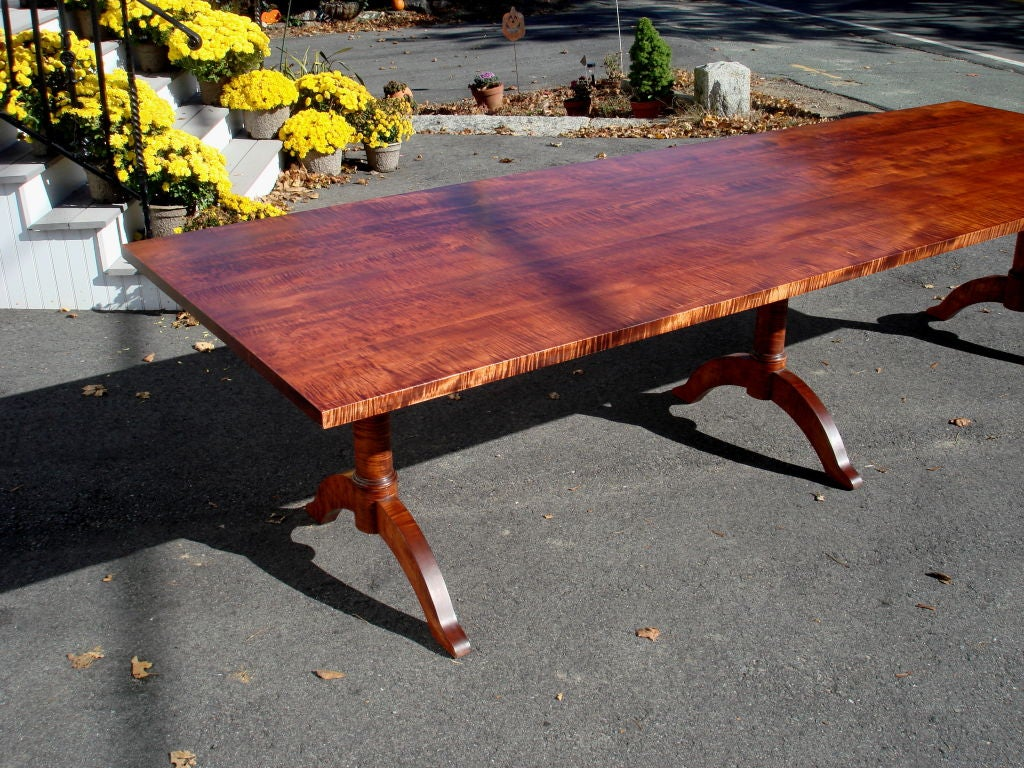 Shaker Style Solid Tiger Maple Dining Table At 1stdibs