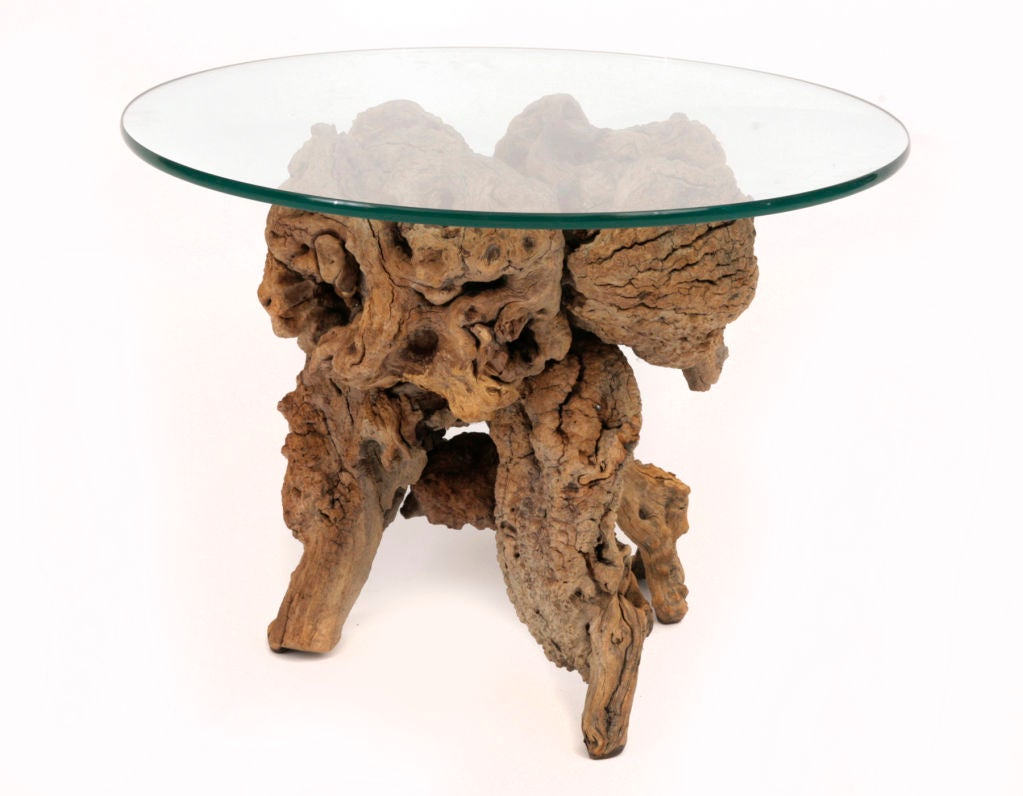 Lucite And Glass End Table At 1stdibs Auto Electrical Wiring Diagram German Wohlenberg Legend Sculptural Driftwood Side Tables