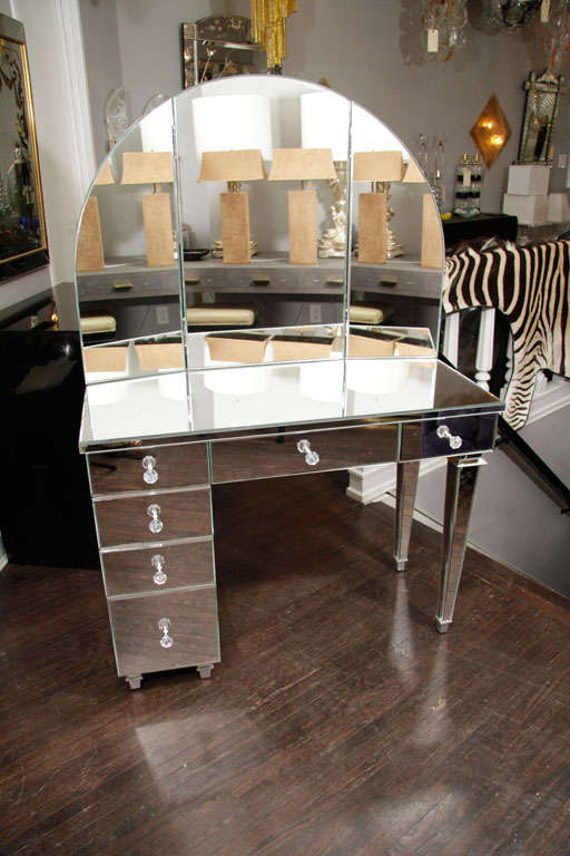 Art Deco Furniture New York Art Deco Style Mirrored Dressing Table For Sale At 1stdibs