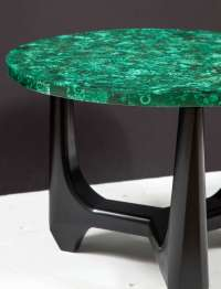 Pair of Side Tables in Malachite at 1stdibs