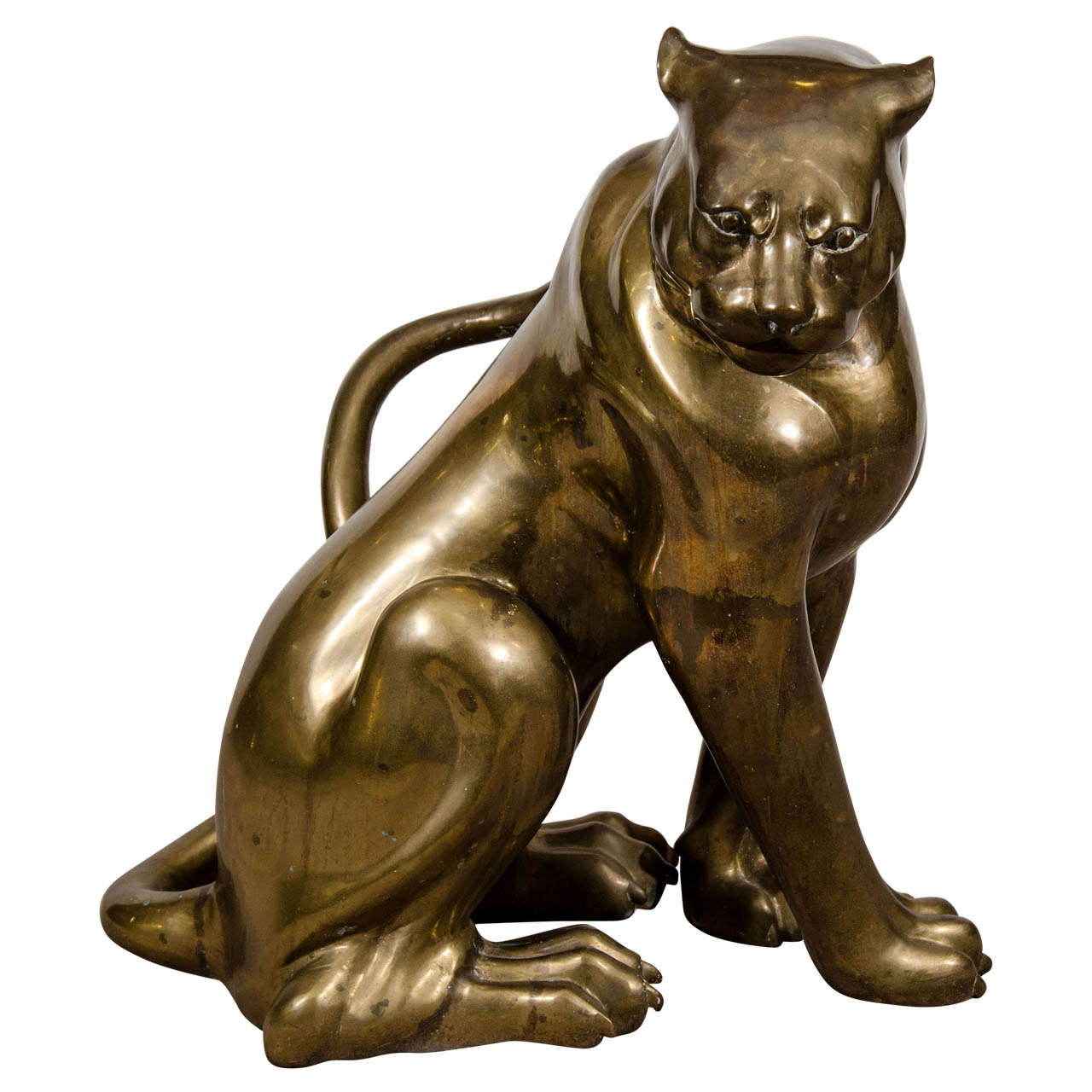 Panther Statue For Sale A Mid Century Brass Sculpture Of A Panther For Sale At 1stdibs