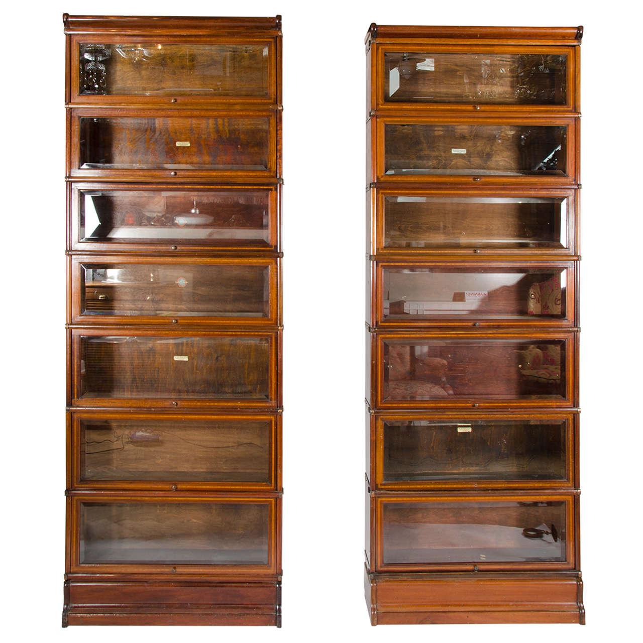 Antique Globe Wernicke Mahogany Modular Bookcases At 1stdibs