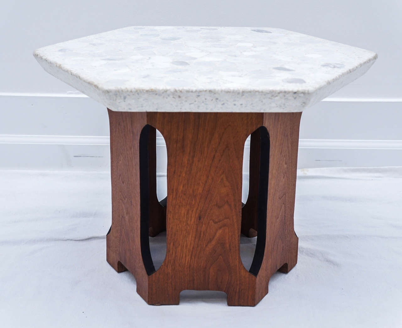 Pair Of Harvey Probber Hexagon Composite Tables For Sale