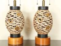 Pair Of Unusual Pierced Ceramic Lamps at 1stdibs