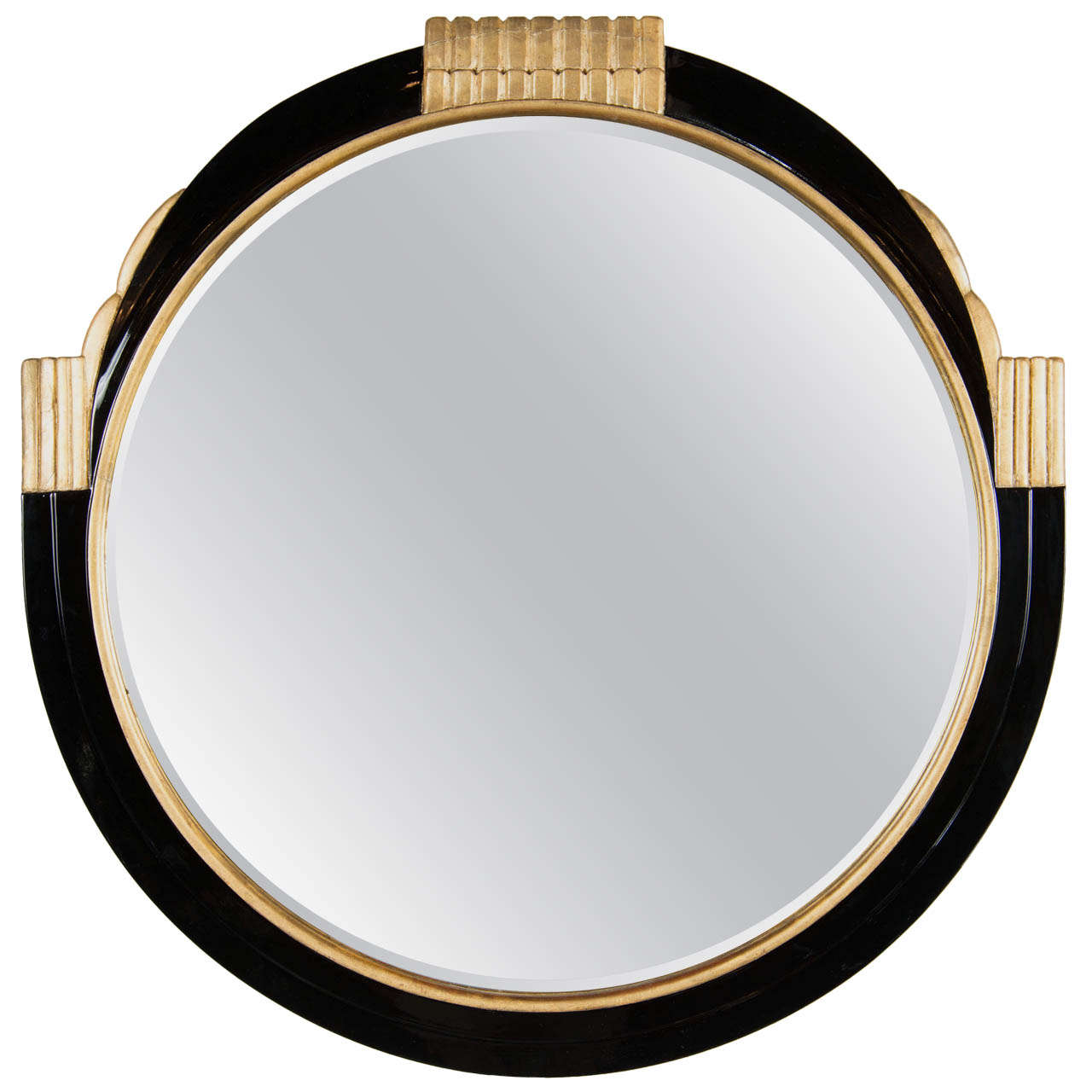 Art Deco Style Mirror Art Deco Round Mirror With Gilded Detailing In The Style Of