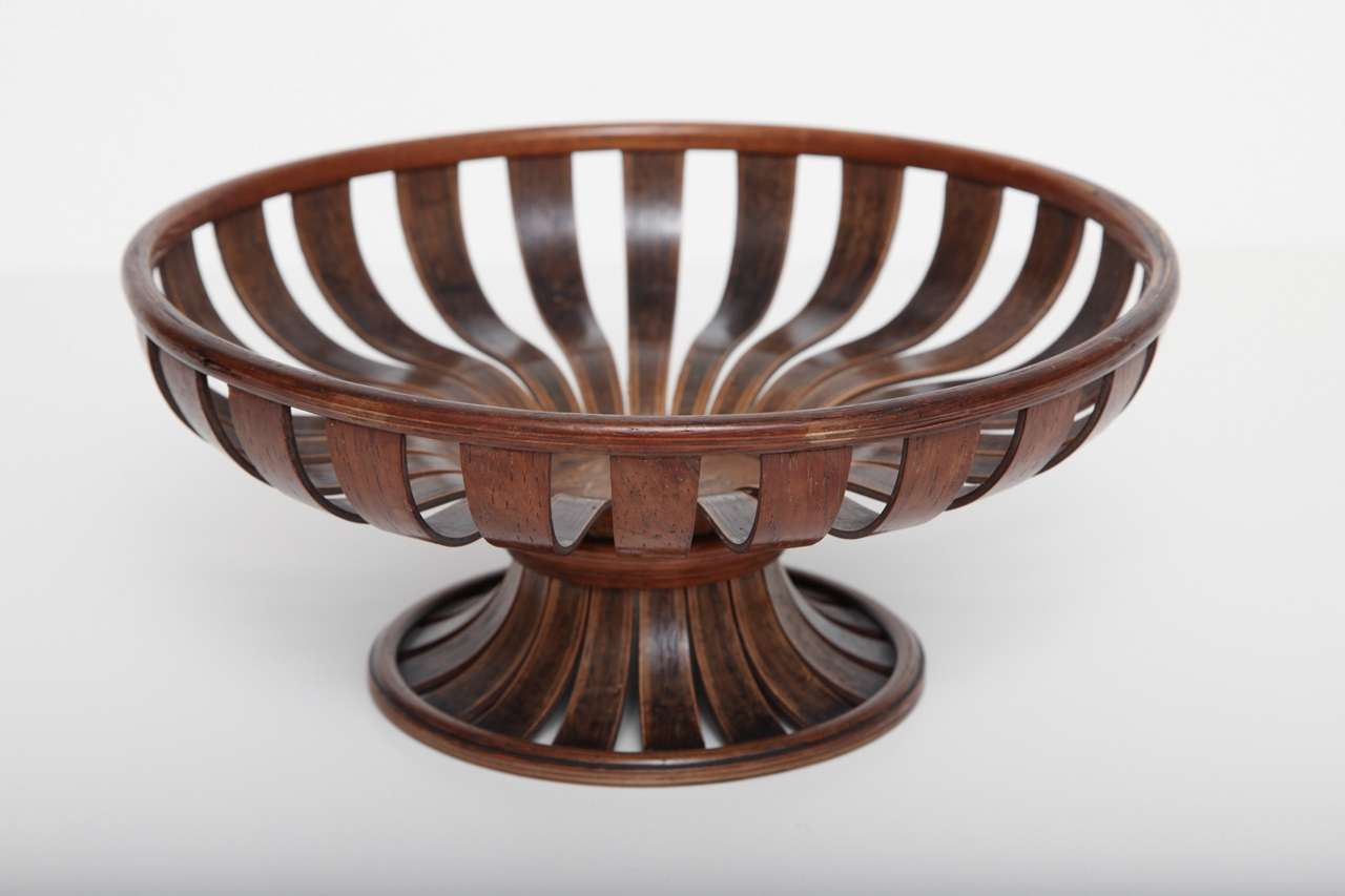 Unusual Fruit Bowls An Unusual 19th Century English Bent Wood Fruit Bowl At