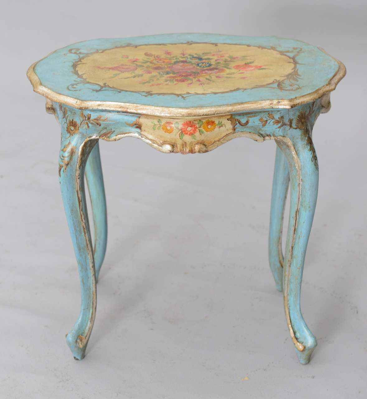 Hand Painted Venetian Accent Table At 1stdibs