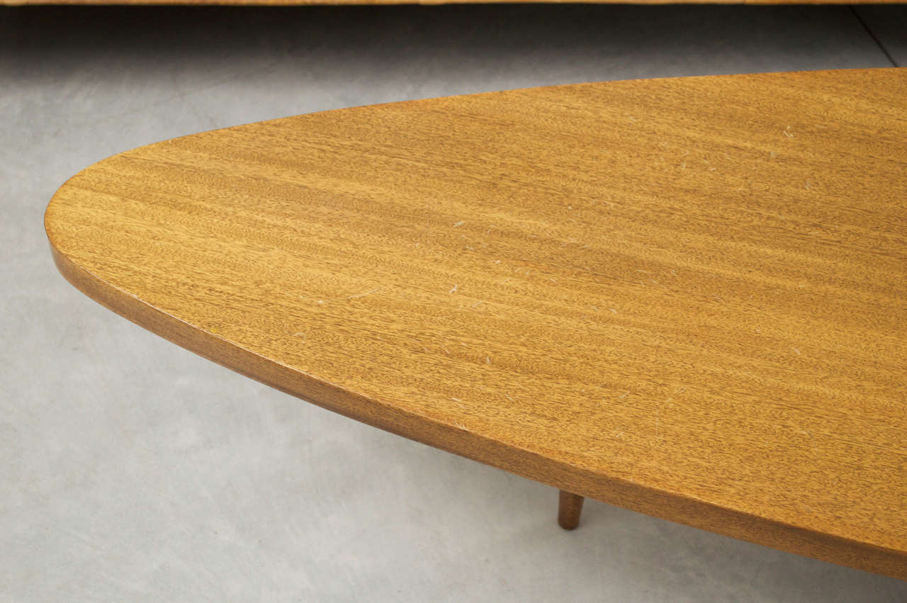 Surfboard Tables For Sale Harvey Probber Triangular Surfboard Table At 1stdibs