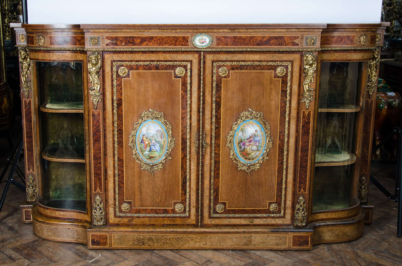 Horst Brüning Antique Sevres Mounted Credenza For Sale At 1stdibs