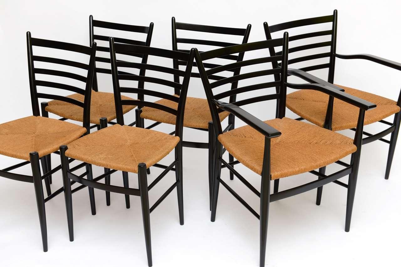 Six Fine Figli Di Sanguineti Modern Chiavari Dining Chairs