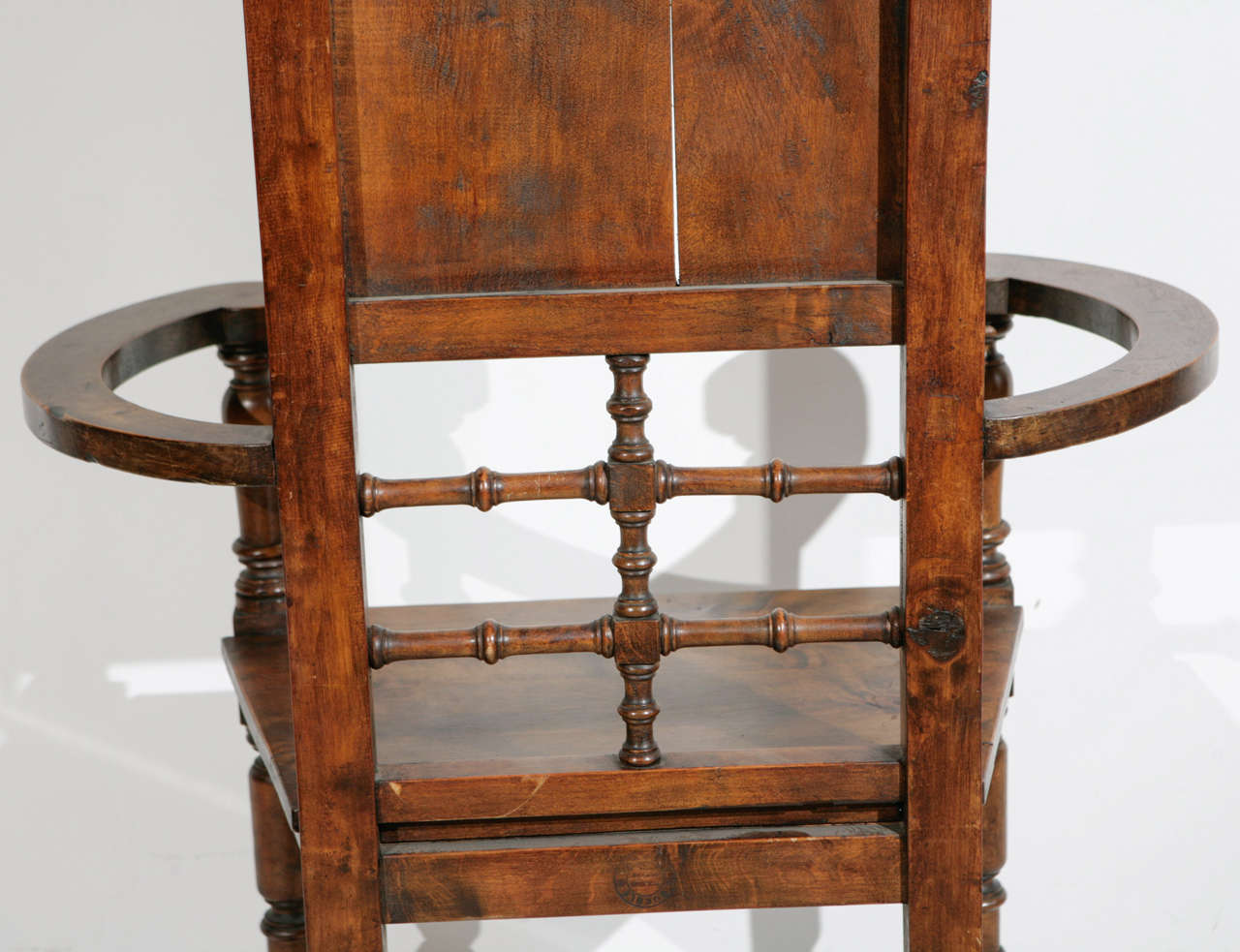 High Back Pine Throne Dining Arm Chair At 1stdibs