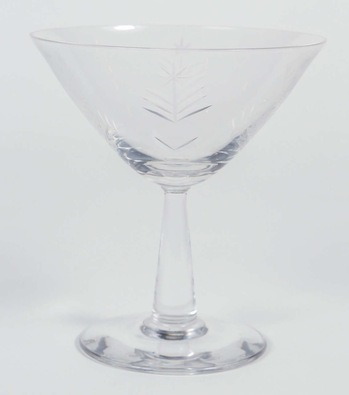 Crystal Stemware For Sale Set Of Mid Century Etched Crystal Glasses For Sale At 1stdibs