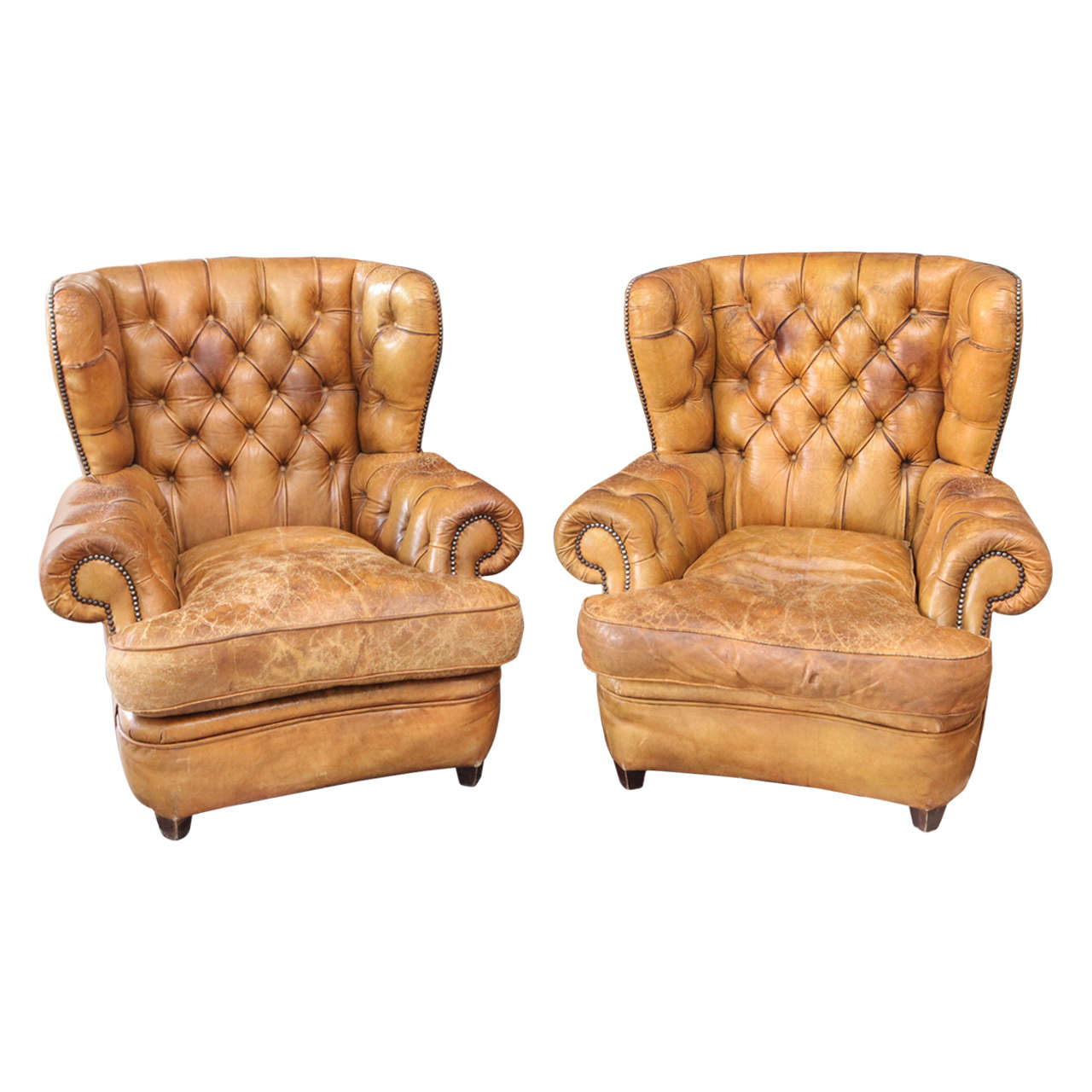 Unique Armchairs 1930 39s Pair Of Unbelievable Chesterfield Chairs With