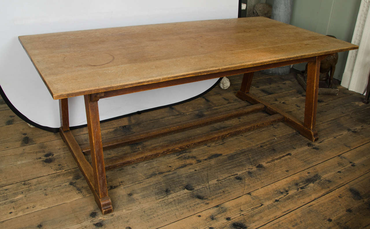 Oak Arts And Crafts Rectangular Dining Table At 1stdibs