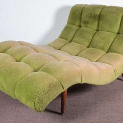 Modernist Wave S Curve Lounge Chair Chaise Adrian Pearsall At