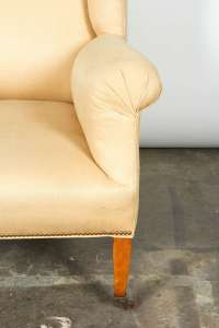 Hepplewhite Style Wing Chair For Sale at 1stdibs