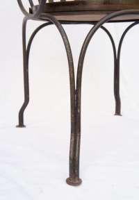 Great pair of antique iron arm chairs For Sale at 1stdibs