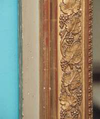 Early 19th Century French Gilt Mirror with Grape ...