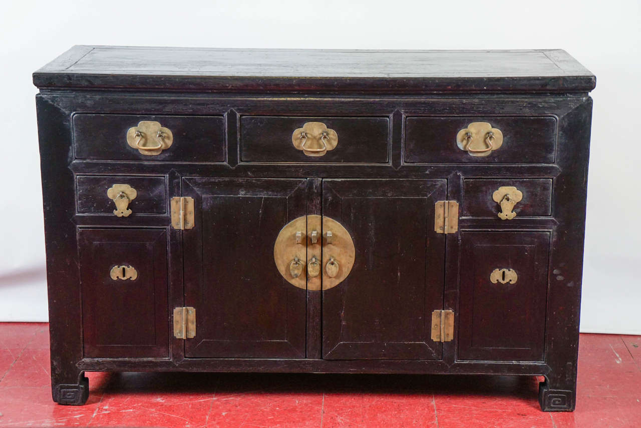 Antique Chinese Black Lacquered Cabinet At 1stdibs