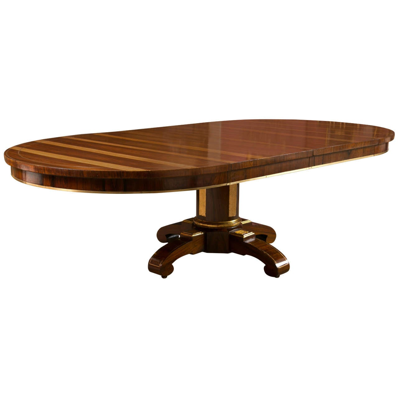 Dining Table Designs 19th C Rosewood Russian Style Dining Table Gilt Wooden Designs Pedestal Base