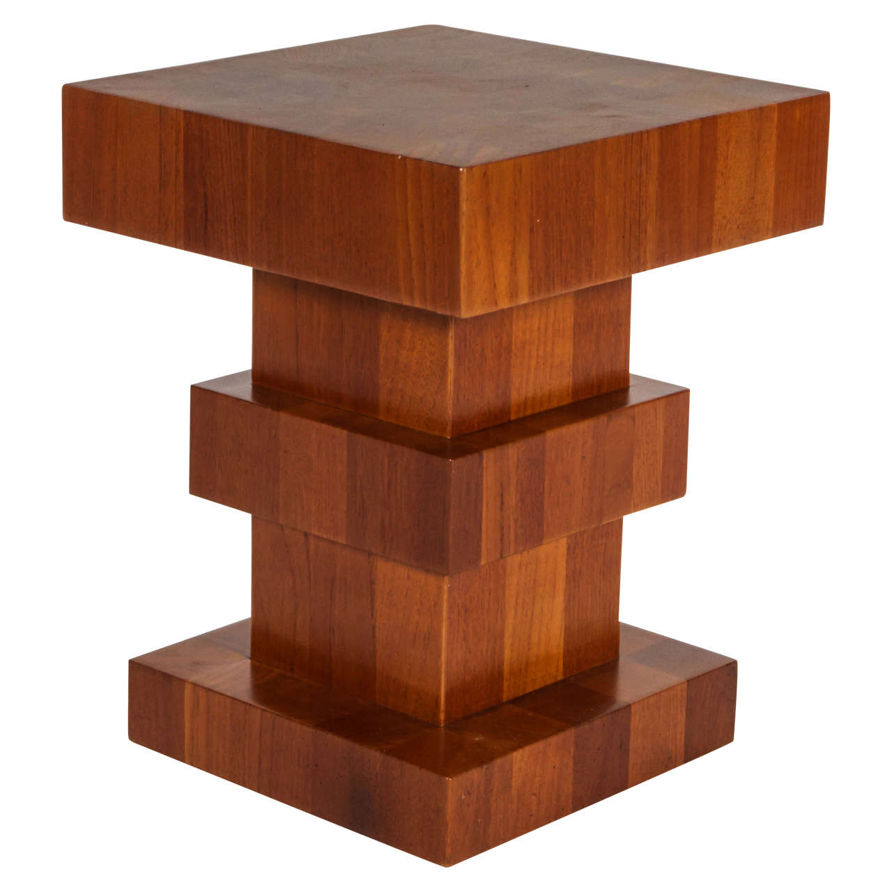 Wood Block End Tables Unusual Wood Block Side Table Signed Quottsao Hong Kong Quot For