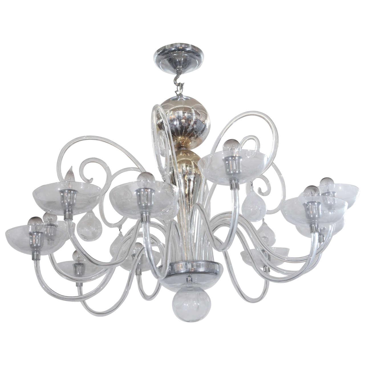 Fullsize Of Blown Glass Chandelier