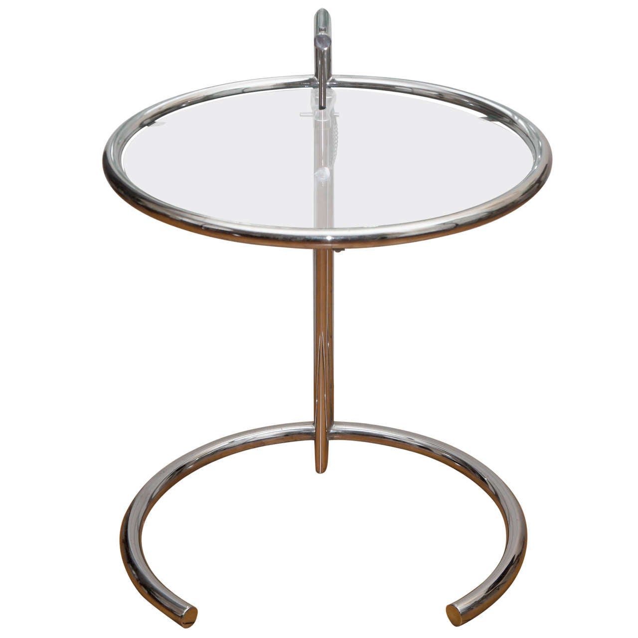 Eileen Gray Table Eileen Gray Chrome And Glass Round Table