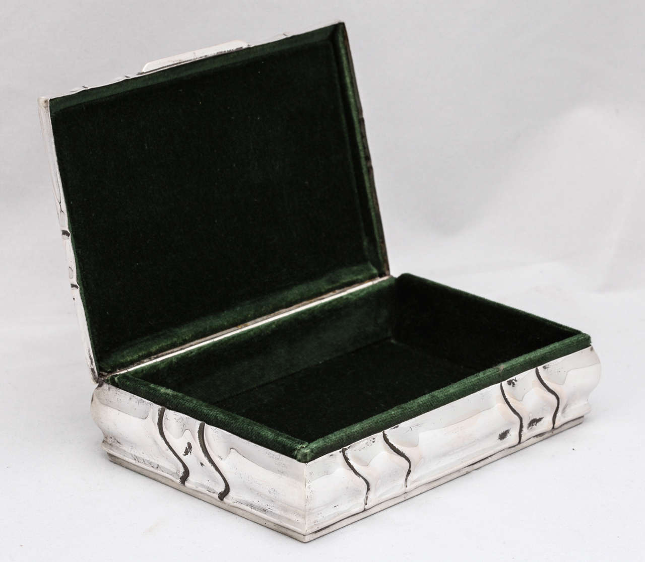 Art Deco Style Jewelry Boxes Art Deco Continental Silver Table Jewelry Box With Hinged Lid