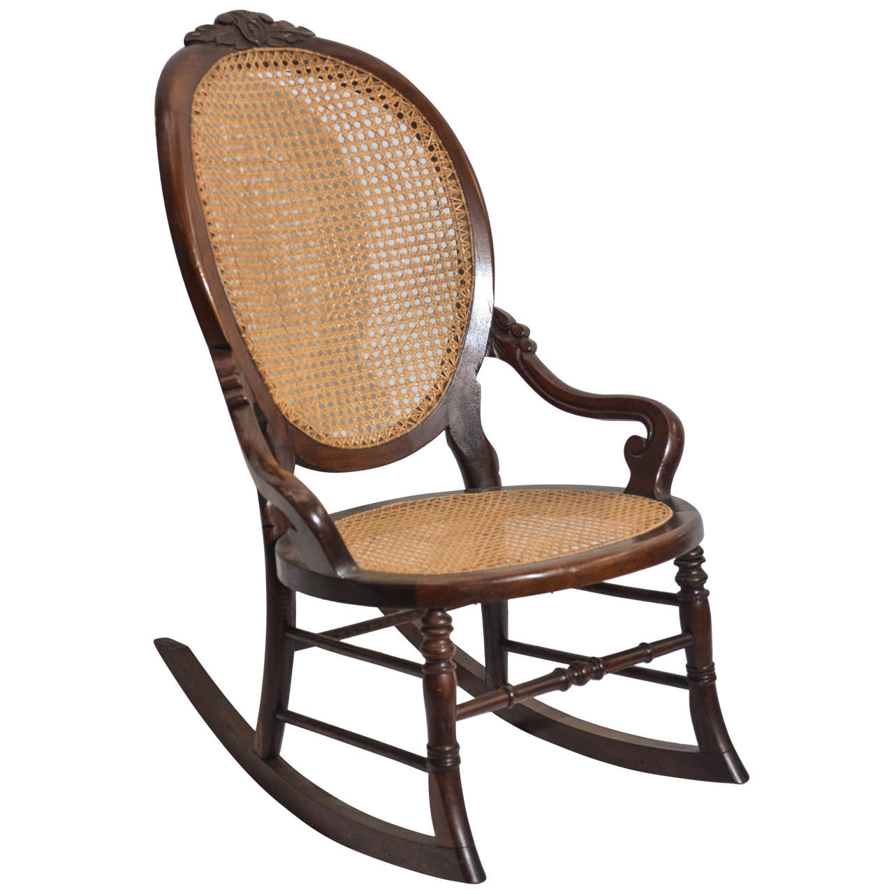 Victorian walnut lady s rocking chair
